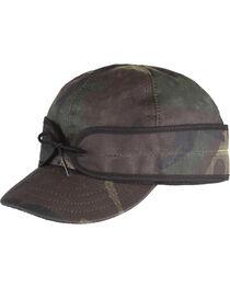 Stormy Kromer Men's Woodland Camo Waxed Cotton Cap , , hi-res