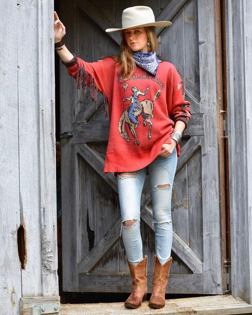 Tasha Polizzi Women's Rodeo Crew Sweater, Red, hi-res