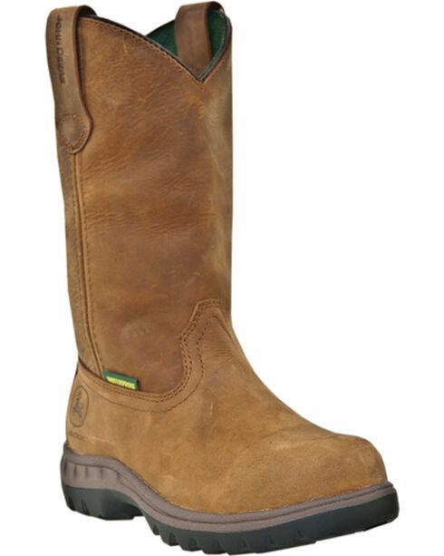 """John Deere® Women's 10"""" Waterproof Wellington Boots, Tan, hi-res"""