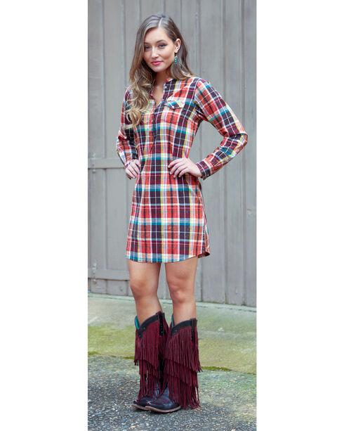 Wrangler Women's Rust Copper Tunic Snap Dress , Rust Copper, hi-res