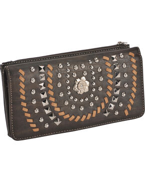 Montana West Women's Coffee Horseshoe Wallet , Brown, hi-res