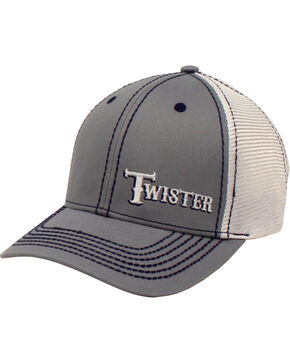 Twister Men's Grey Offset Text Baseball Cap , Grey, hi-res