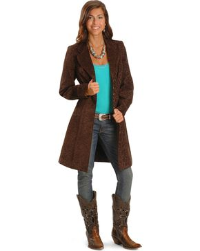 Scully Women's Chenille Frock Coat, Brown, hi-res