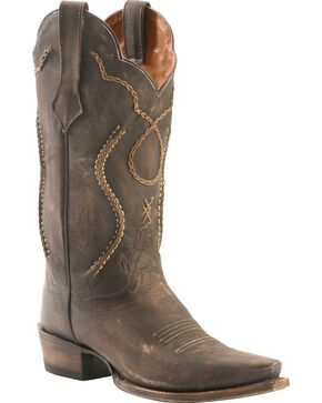Dan Post Men's Chain Lace Western Boots, Chocolate, hi-res