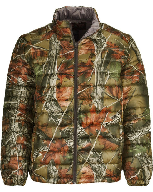 Trail Crest Men's Ultra Thurmic Silk Padded Camo Quilted Jacket, Camouflage, hi-res
