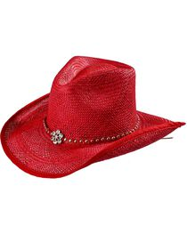 Bullhide All American Straw Cowgirl Hat, , hi-res