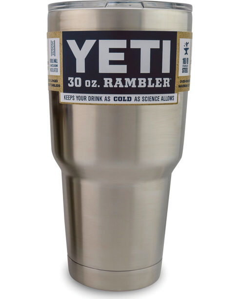 Yeti 30 Oz. Rambler Tumbler, Silver, hi-res