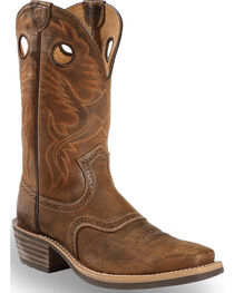 Ariat Men's Heritage Roughstock Chestnut Western Boots - Square Toe, , hi-res
