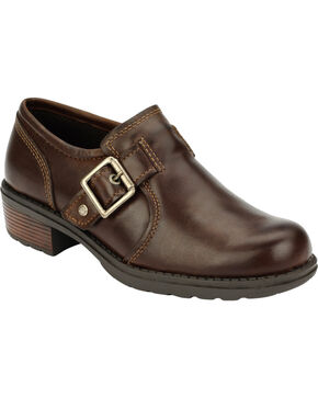 Eastland Women's Brown Open Road Slip-Ons , Brown, hi-res