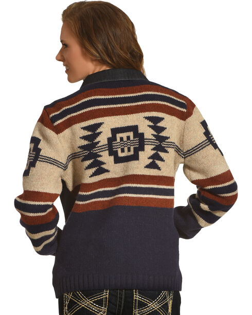 Pendleton Women's Athena Sweater Jacket , Indigo, hi-res