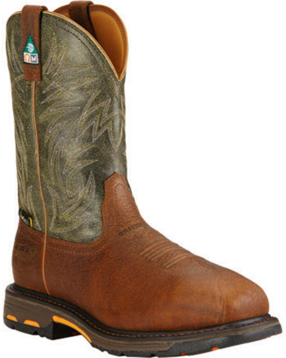Ariat Men's WorkHog CSA Work Boots, Brown, hi-res