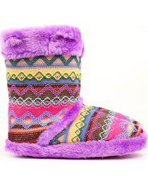 Blazin Roxx Women's Muli Color Woven Slipper Booties, , hi-res