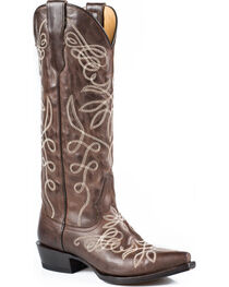 Stetson Women's Embroidered Adeline Western Boots, , hi-res