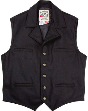 Schaefer Men's 805 Cattle Baron Vest, Black, hi-res