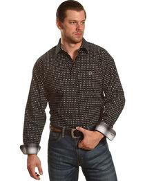Panhandle Men's Peached Cotton Print Shirt , , hi-res