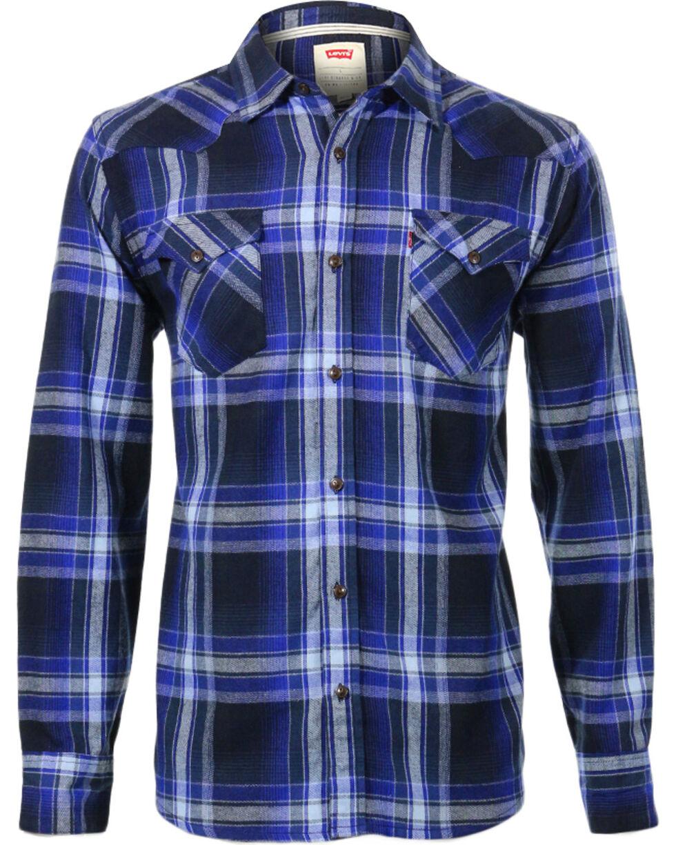 Levi's Men's Long Sleeve Flannel Plaid Shirt, , hi-res