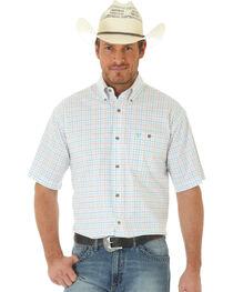Wrangler 20X Men's Short Sleeve Plaid Button Shirt, , hi-res