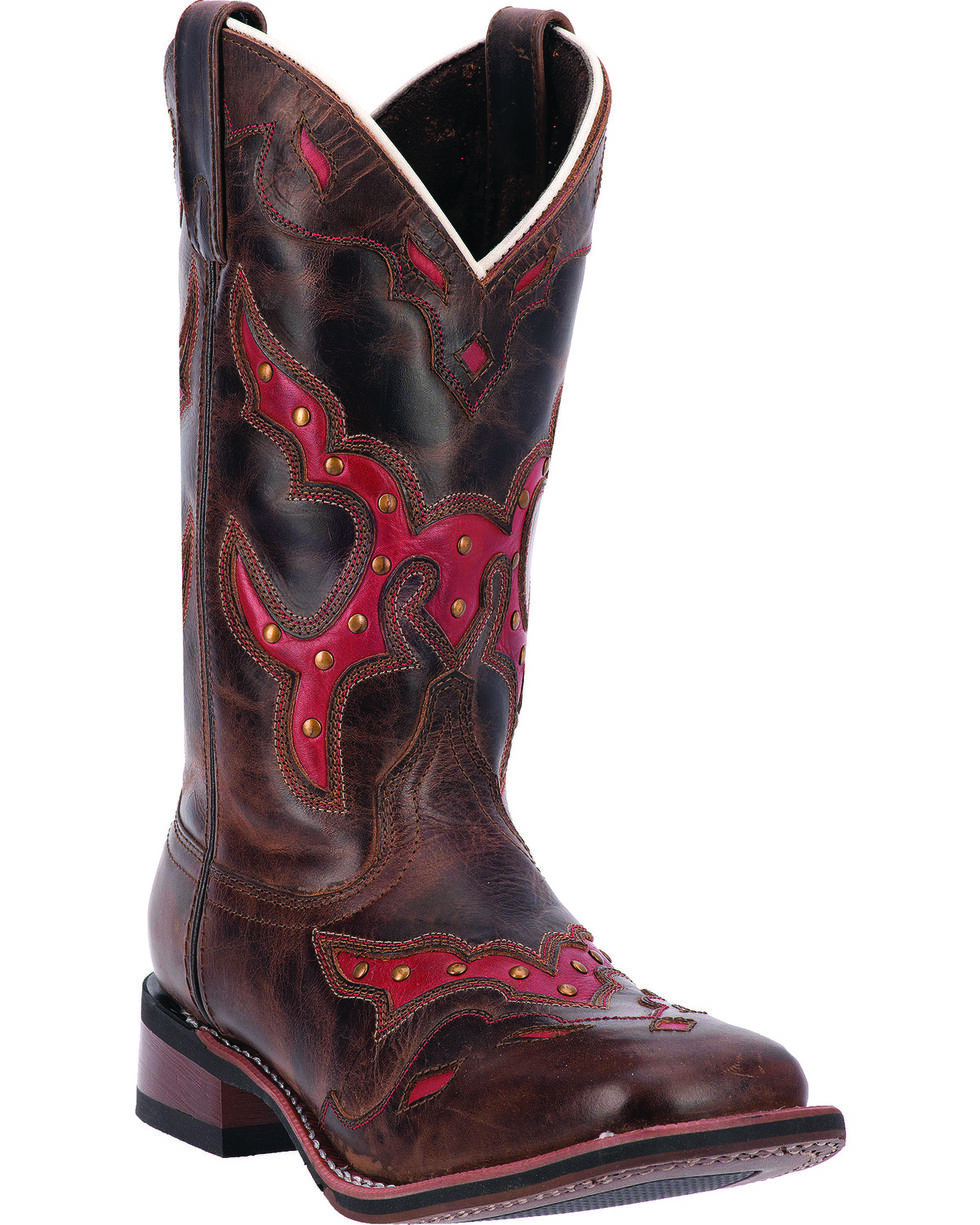 Laredo Women's Paprika Western Boots, Brown, hi-res