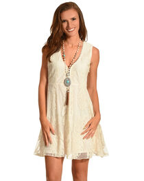 Shyanne® Women's Allover Lace Sleeveless Dress, , hi-res
