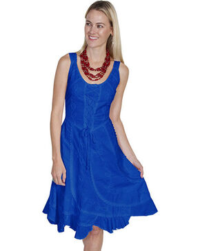Scully Sleeveless Peruvian Cotton Dress, Blue, hi-res