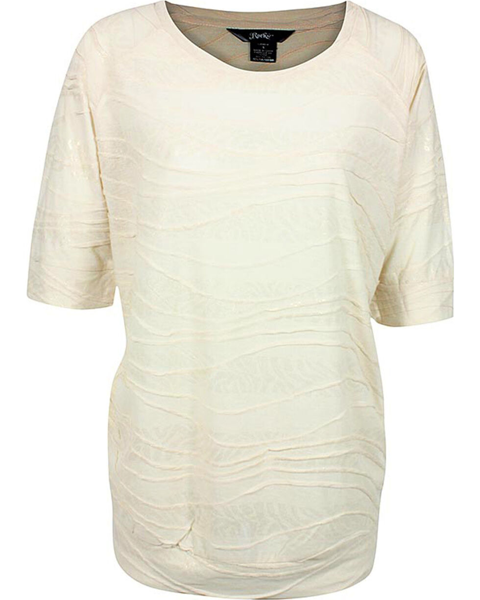 Rock 47 by Wrangler Women's Quarter Sleeve Textured Blouse, Multi, hi-res