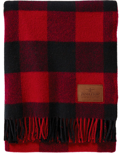 Pendleton Red Plaid Motor Robe Blanket , No Color, hi-res