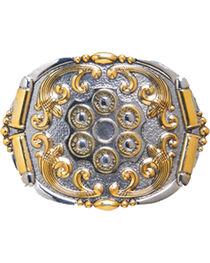 AndWest Men's Two-Tone Revolver Belt Buckle, , hi-res
