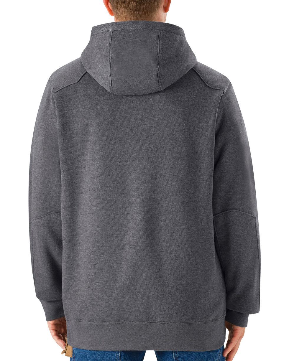 Red Kap Men's Grey Workwear Pull-Over Heavyweight Hoodie, Charcoal Grey, hi-res