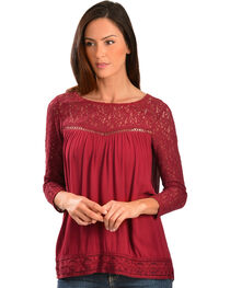Black Swan Women's Genevieve Crochet Trim Top, , hi-res