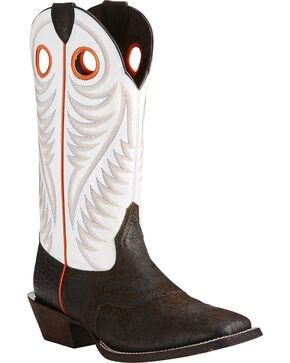 Ariat Men's Circuit Stomper Western Boots, Chocolate, hi-res