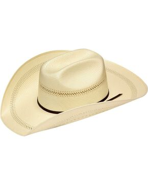 Twister 20X Shantung Maverick Straw Cowboy Hat, Natural, hi-res