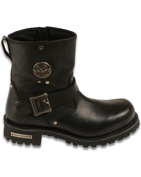 "Milwaukee Leather Men's 6"" Classic Engineer Boots - Round Toe - Wide, Black, hi-res"