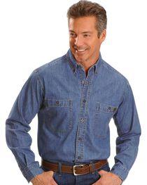 Riggs Workwear Men's Long Sleeve Denim Work Shirt, , hi-res