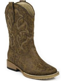 Roper Boys' Scout Embroidered Western Boots, , hi-res