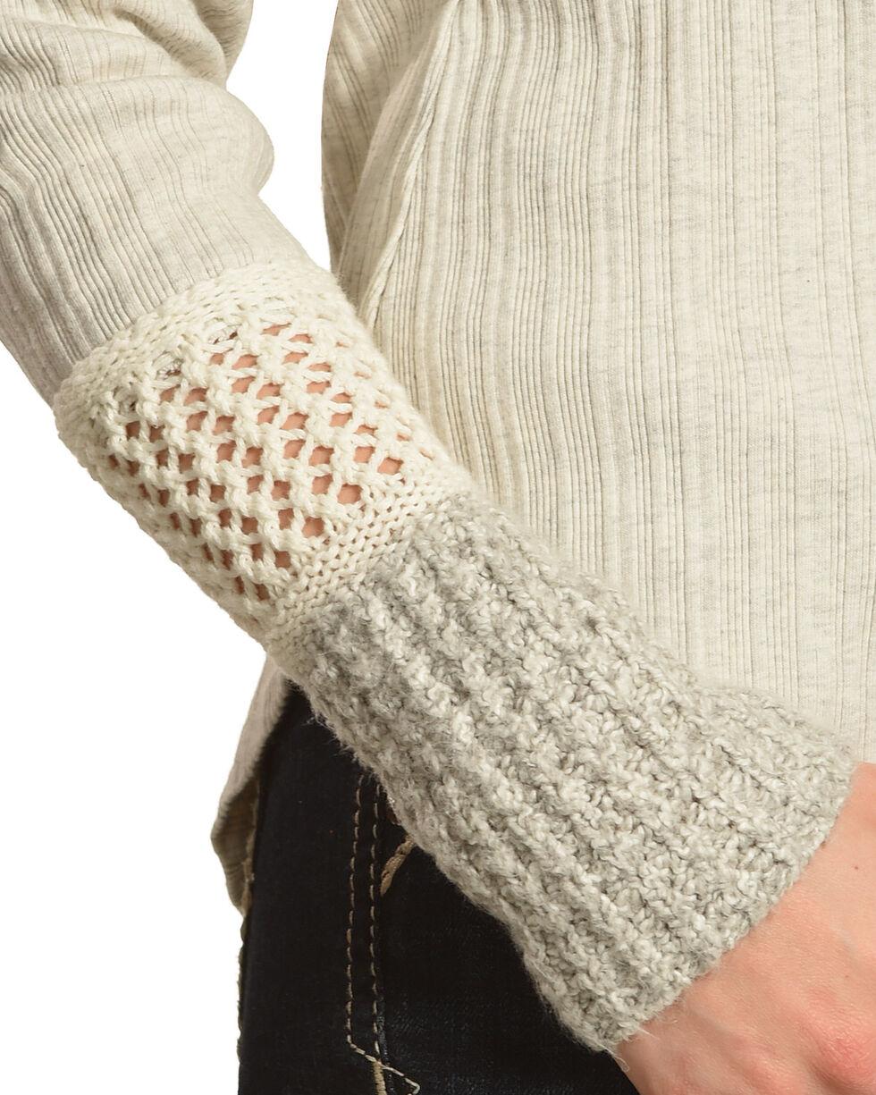 Shyanne Women's Long Sleeve Henley Shirt, Oatmeal, hi-res