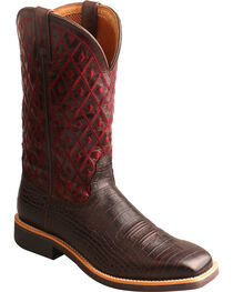 Twisted X Women's Top Hand Caiman Print Cowgirl Boots - Square Toe, , hi-res