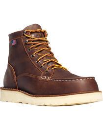 "Danner Men's Bull Run Moc Toe 6"" Work Boots - Soft Toe , , hi-res"