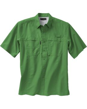 Dri Duck Men's Catch Short Sleeve Shirt - 3X & 4X, Green, hi-res