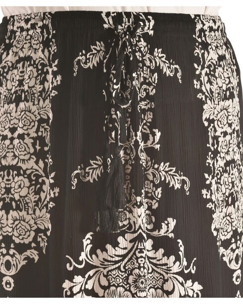 Bila Women's Printed Long Skirt , Black, hi-res