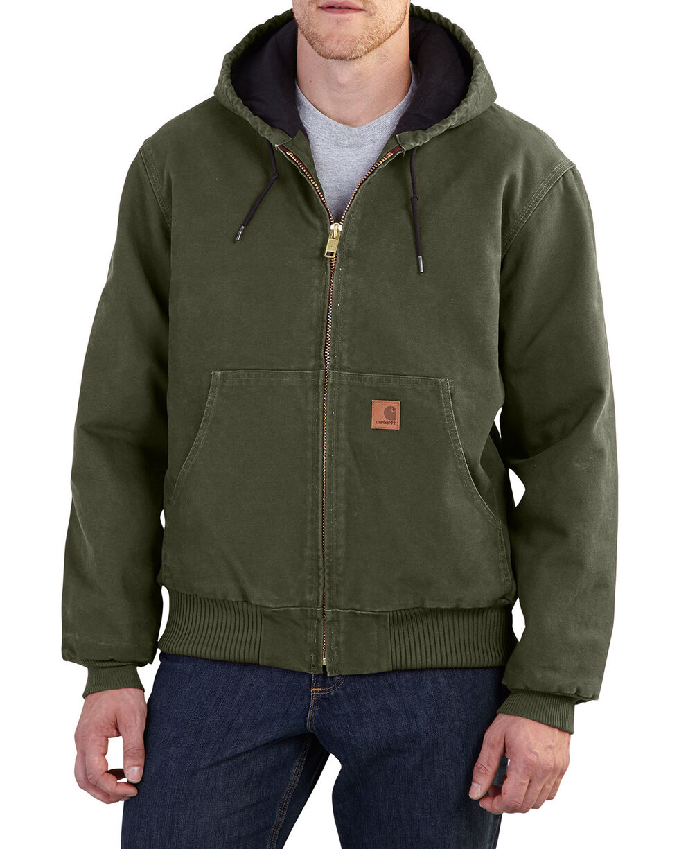 Carhartt Men's Moss Sandstone Active Hooded Jacket - Tall, No Color, hi-res