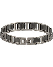 Montana Silversmiths Men's Stainless Steel Linked Bracelet, , hi-res