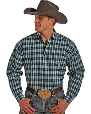 Panhandle Tuf Cooper Men's Plaid Long Sleeve Shirt, Plaid, hi-res