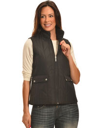 Jane Ashley Women's Black Zig Zag Snap Vest , , hi-res