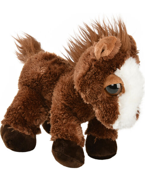 Aurora Dreamy Eyes Plush Pony, Brown, hi-res