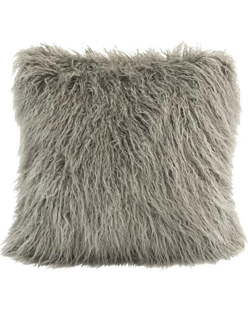 HiEnd Accents Mongolian Faux Fur Pillow, , hi-res