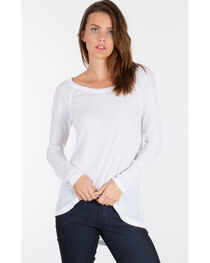 Z Supply Women's White Home Run Baseball Tee , , hi-res