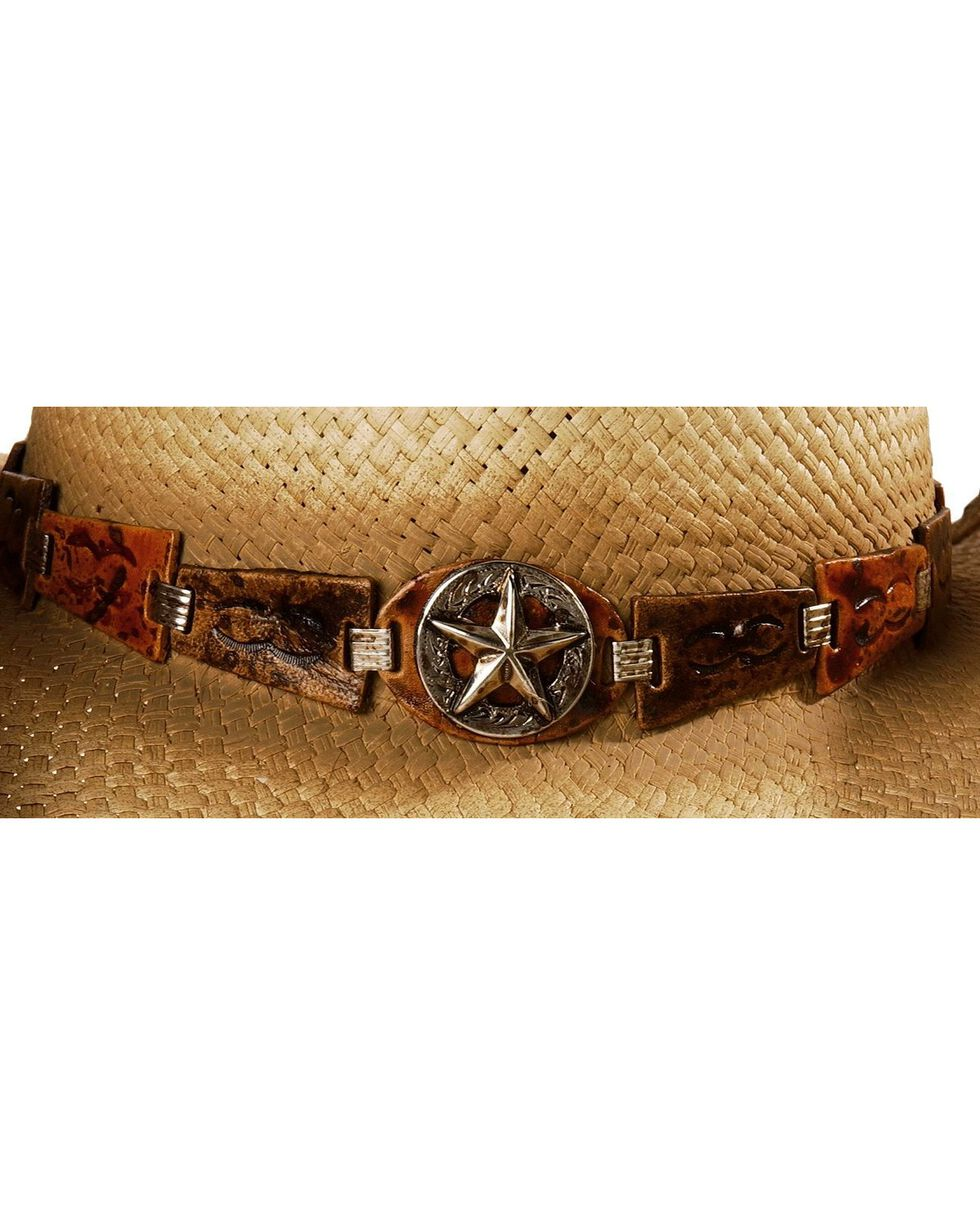 Bullhide Men's Star Central Straw Hat, Natural, hi-res