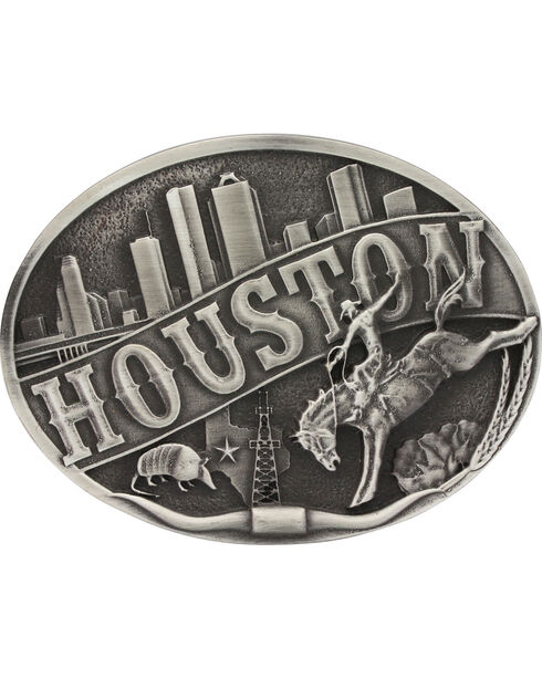 Montana Silversmiths Houston Belt Buckle, Silver, hi-res