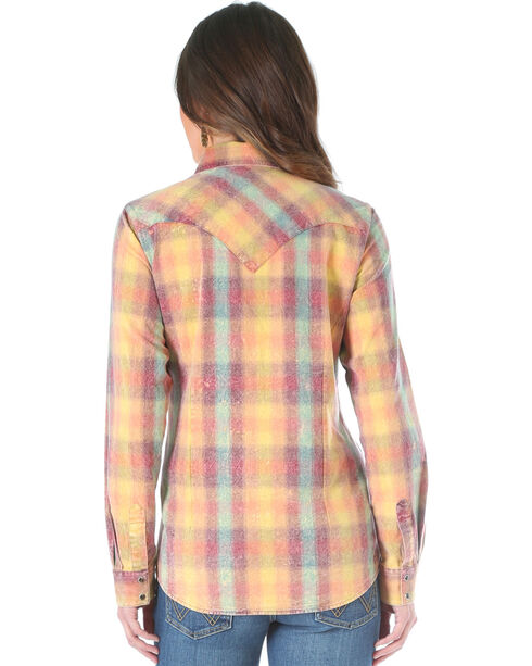Wrangler Women's Camel Plaid Western Shirt , Multi, hi-res