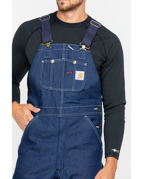 Carhartt Men's Denim Bib Overalls, Denim, hi-res